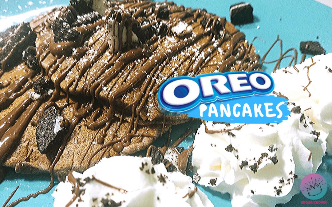 Pancakes de Oreo esponjosos, fáciles y riquísimos!