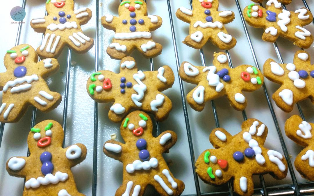 Galletas muñeco de jengibre navideñas crujientes y deliciosas!