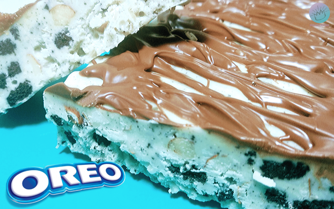 Turrón de OREO y Chocolate Blanco casero, crujiente y adictivo!